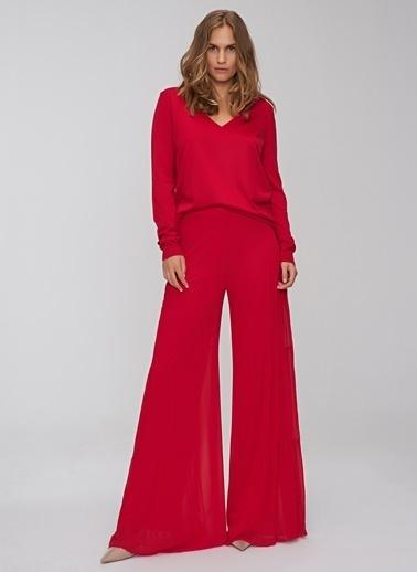 People By Fabrika Volan Detaylı Pantolon Kırmızı